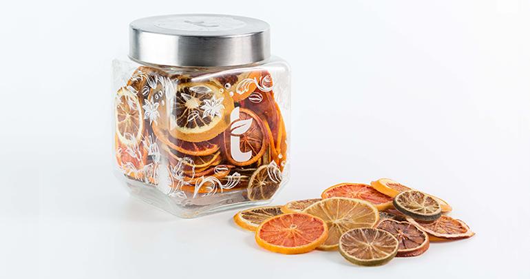 Edición limitada de cítricos deshidratados para dar color, aroma y sabor a bebidas y postres