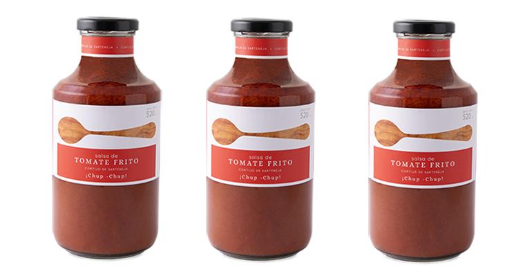 Salsa de tomate frito con receta familiar, auténtico chup-chup