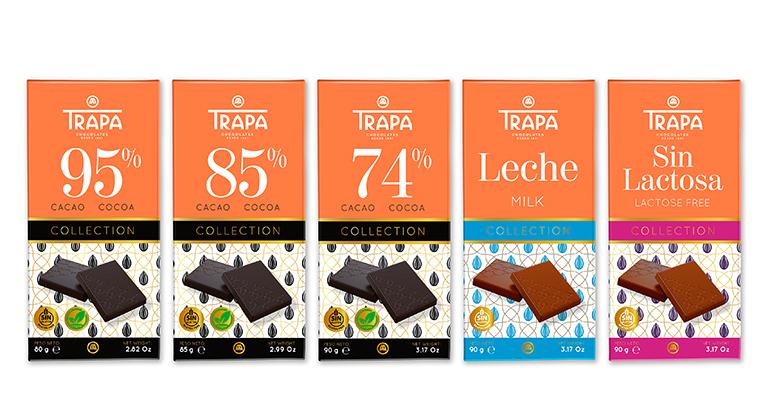 Trapa Collection, nueva gama de tabletas de chocolate para abarcar todos los gustos