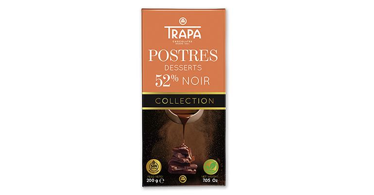 Tableta de postres con 52% de cacao y formato 200 gramos