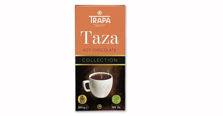 Trapa chocolate a la taza, tableta con nuevo formato de 200 gramos, apta para veganos y sin gluten