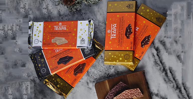 El sabor más dulce de la Navidad en variados turrones de chocolate