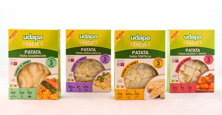 Udapa Fácil: nueva línea de patatas cocidas al vapor de V gama
