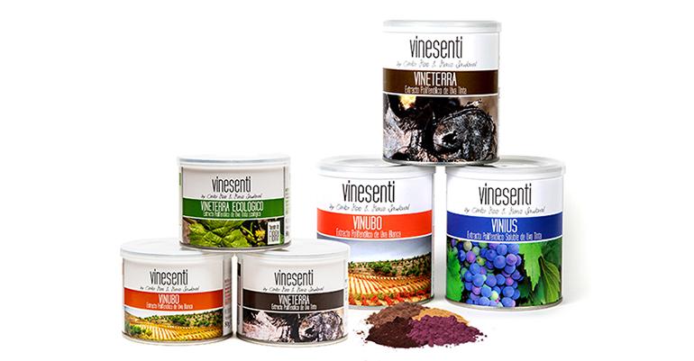 Vinesenti, gama de condimentos con alto poder antioxidante elaborados a partir de extracto polifenólico de uva
