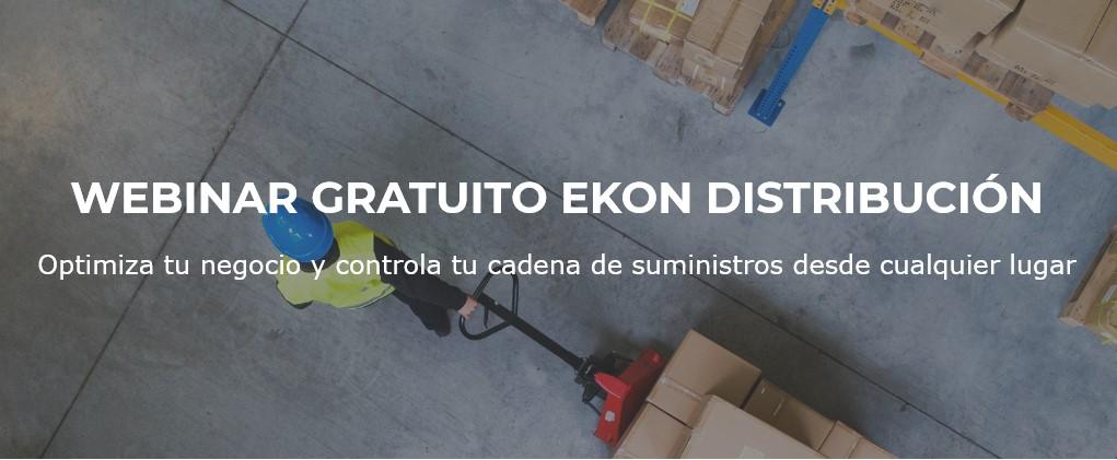 Ekon celebra un webinar gratuito con soluciones de gestión para negocios de distribución