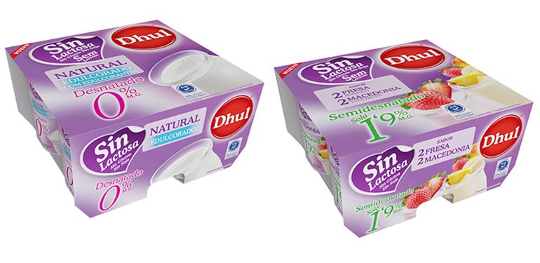 Nueva gama de yogures sin lactosa, desnatados y semidesnatados