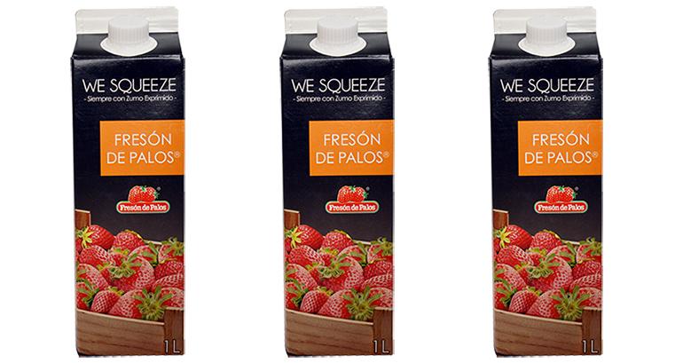 Saludable zumo de Fresón de Palos en su óptimo punto de maduración
